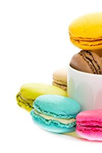 Hintergrundbilder Weißer hintergrund Macaron Bunte Tasse Lebensmittel
