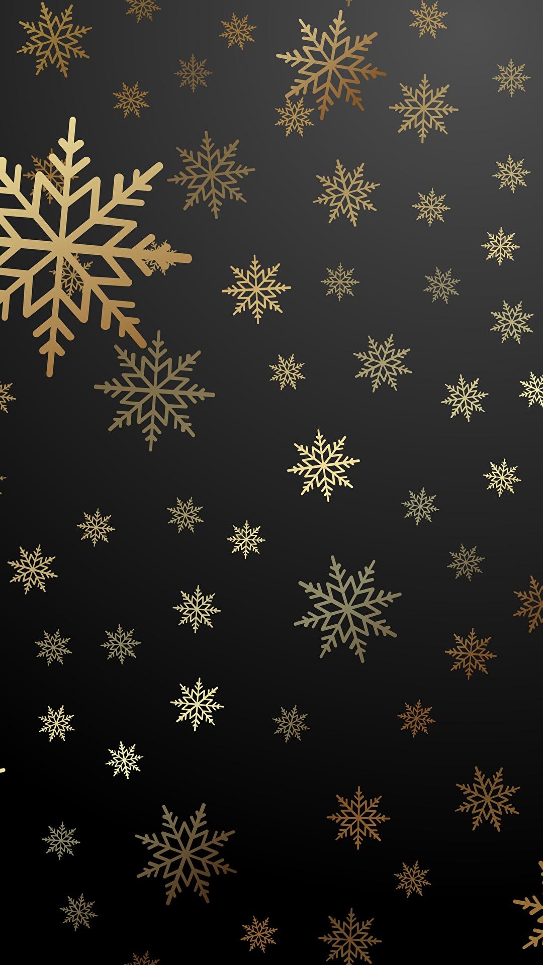 壁紙 1080x1920 テクスチャー 新年 雪の結晶 ダウンロード 写真