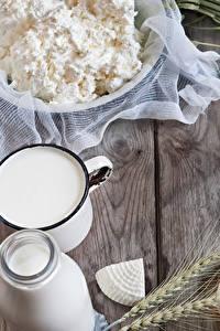 Hintergrundbilder Topfen Weißkäse Quark Hüttenkäse Milch Käse Weizen Ähre Bretter
