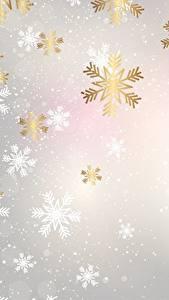 Papéis de parede Textura Ano-Novo Floco de neve