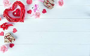 Hintergrundbilder Valentinstag Herz Vorlage Grußkarte Bretter