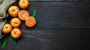 Hintergrundbilder Mandarine Bretter Lebensmittel