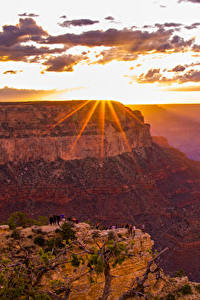 Hintergrundbilder Grand Canyon Park USA Park Gebirge Sonnenaufgänge und Sonnenuntergänge Himmel Wolke Lichtstrahl Natur