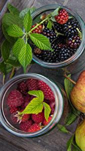 Fotos Beere Äpfel Himbeeren Brombeeren