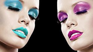 Fotos Lippe Gesicht Schminke Nase junge frau