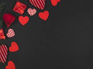 Hintergrundbilder Valentinstag Herz Grauer Hintergrund
