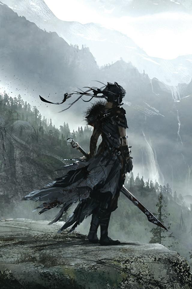 Images Hellblade Senuas Sacrifice Swords Warrior Mountain