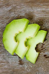 Fotos Melone Stücke das Essen