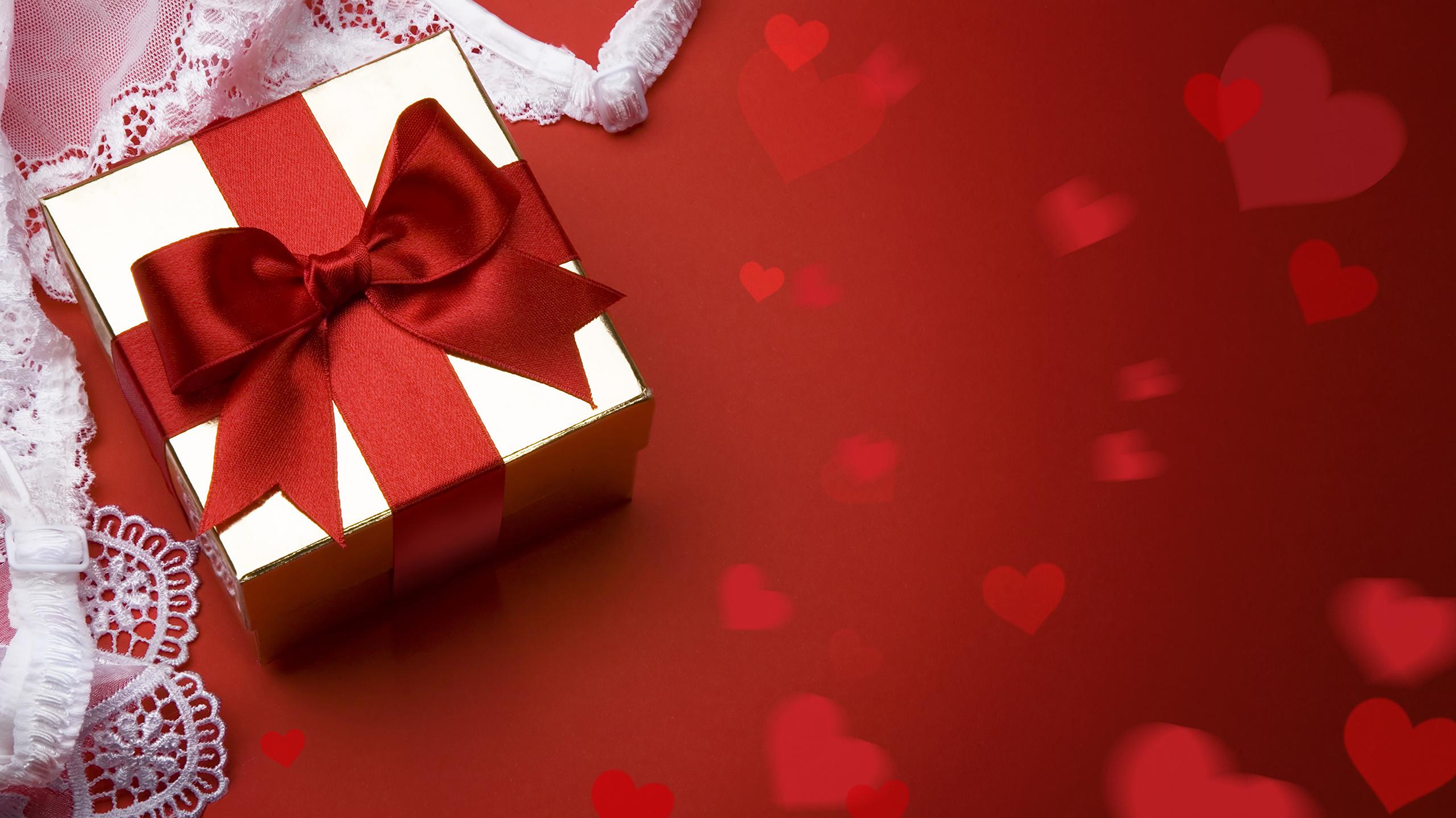 Fonds Decran 2560x1440 Saint Valentin Fond Rouge Cadeaux