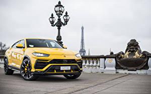 Hintergrundbilder Lamborghini Gelb Metallisch 2018 Urus Autos