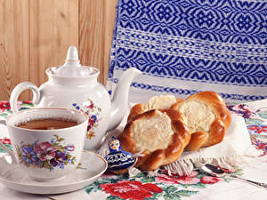 Image Tea Kettle Buns Spoon Food