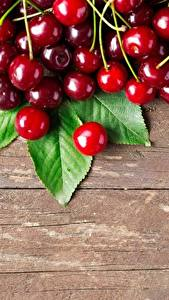 Wallpaper Cherry Berry Wood planks Food