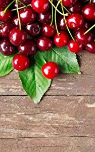 Wallpaper Cherry Berry Wood planks Food