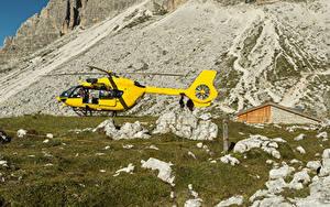 Bilder Hubschrauber Steine Gelb