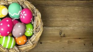 Hintergrundbilder Feiertage Ostern Bretter Ei Nest
