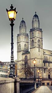 Bilder Zürich Schweiz Gebäude Brücken Zaun Straßenlaterne Städte