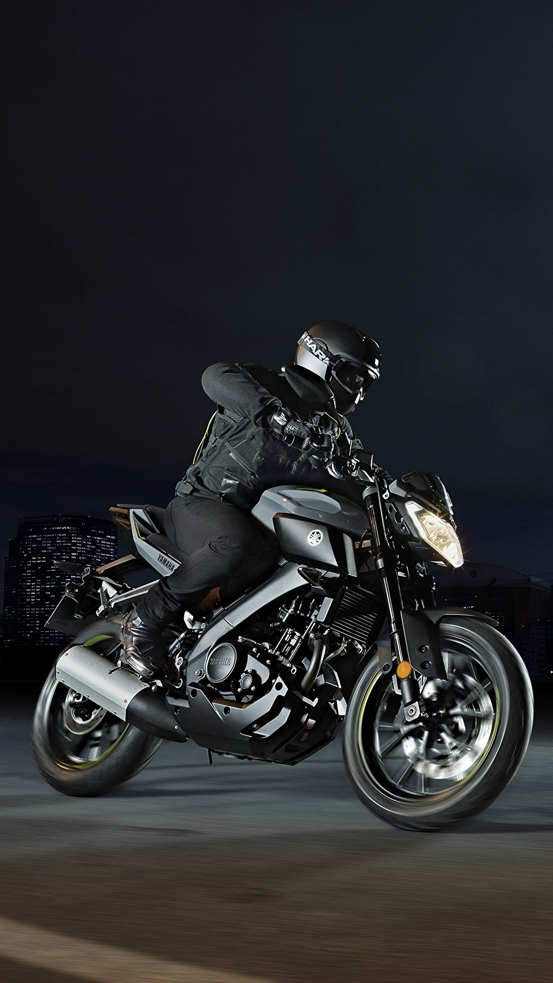 Wallpaper Yamaha Helmet 2016 17 Mt 125 Motorcycle 1080x1920