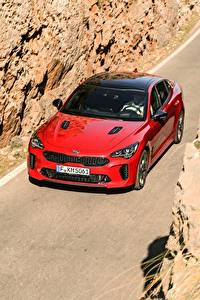 Wallpaper KIA Red Metallic Front 2017 Stinger GT Worldwide automobile