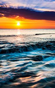 壁纸、、熱帯、風景写真、朝焼けと日没、空、ハワイ州、太陽、