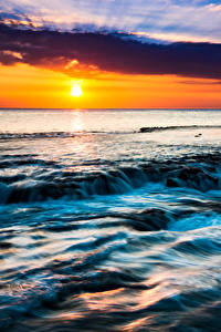 Fotos Tropen Landschaftsfotografie Sonnenaufgänge und Sonnenuntergänge Himmel Hawaii Sonne Natur