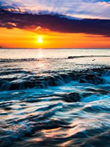 Fotos Tropen Landschaftsfotografie Sonnenaufgänge und Sonnenuntergänge Himmel Hawaii Sonne