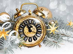 Bilder Uhr Zifferblatt Wecker Neujahr Kleine Sterne