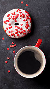 Image Coffee Donuts Sweets Cup Heart