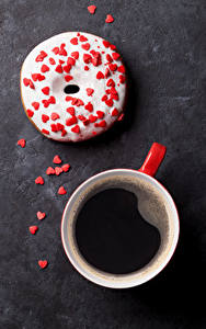 Image Coffee Doughnut Sweets Cup Heart