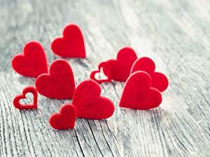Fotos Valentinstag Herz Unscharfer Hintergrund