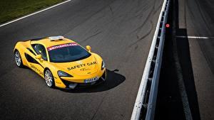 Papel de Parede Desktop McLaren Tuning Amarelo 2017 540C Coupe Safety Car automóvel