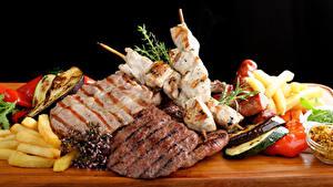 Fotos Fleischwaren Schaschlik Gemüse