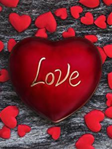 Fotos Valentinstag Rot Herz Text Englischer love