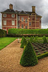 Hintergrundbilder England Haus London Strauch Rasen HDR Ham House and Garden Richmond Städte