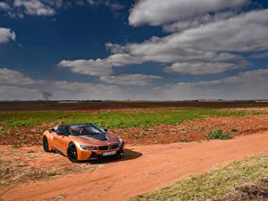 Images BMW Orange Convertible Roadster 2018 i8 auto