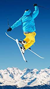 Hintergrundbilder Winter Skisport Schnee Sprung Jacke Sport