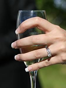 Bilder Finger Großansicht Hand Maniküre Ring Weinglas