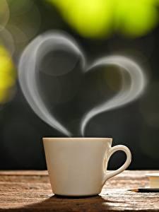 Bilder Tasse Herz Dampf Lebensmittel
