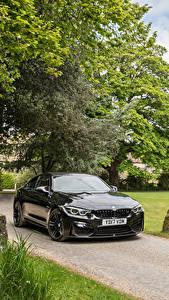 Hintergrundbilder BMW Schwarz Metallisch 2017 M4 Coupe Autos