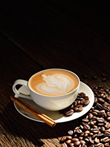 Wallpaper Cappuccino Coffee Cinnamon Cup Grain