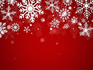 Hintergrundbilder Neujahr Roter Hintergrund Schneeflocken Vorlage Grußkarte
