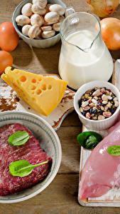 Bilder Fleischwaren Käse Milch Gemüse Bretter Ei