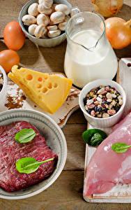 Bilder Fleischwaren Käse Milch Gemüse Bretter Ei Lebensmittel