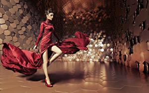 Hintergrundbilder Braune Haare Kleid Tanzen Bein