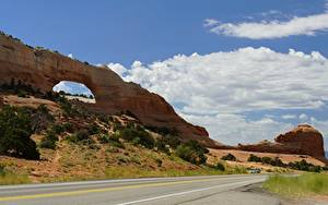 Pictures Roads Park USA Crag Arch Bryce Canyon National Park, Utah Nature
