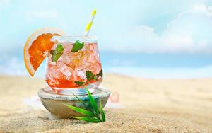 Fotos Getränk Apfelsine Cocktail Trinkglas das Essen