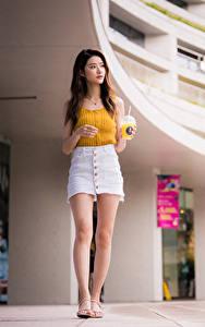 Hintergrundbilder Asiaten Rock Bein Unterhemd Mädchens