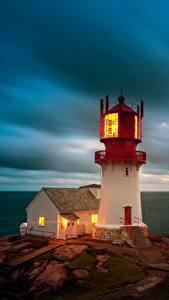Desktop hintergrundbilder Meer Himmel Leuchtturm Norwegen Wolke Lindesnes Lighthouse, Skagerrak Strait Natur