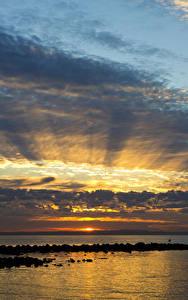Bilder Australien Meer Morgendämmerung und Sonnenuntergang Himmel Wolke Queensland