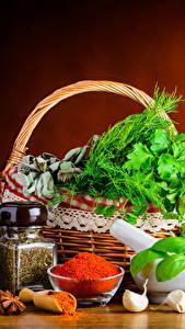 Hintergrundbilder Stillleben Gewürze Gemüse Knoblauch Weidenkorb Einweckglas Lebensmittel