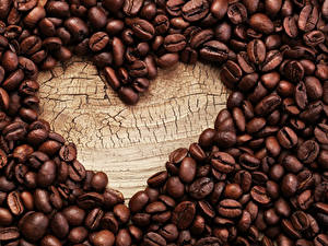 Fotos Kaffee Großansicht Herz Getreide
